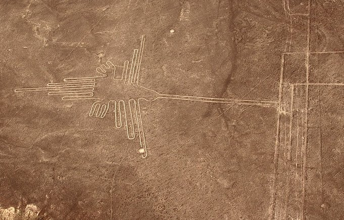 "The ""Hummingbird"" at Nazca Peru"
