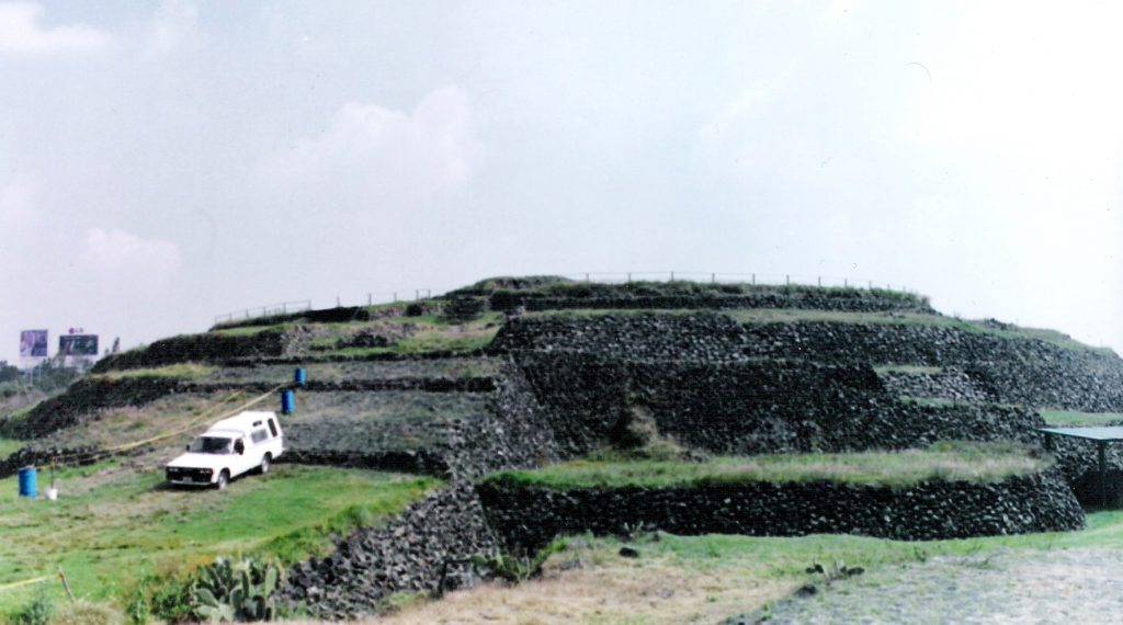 The Cuicuilco Pyramid and Fingerprints of the Gods