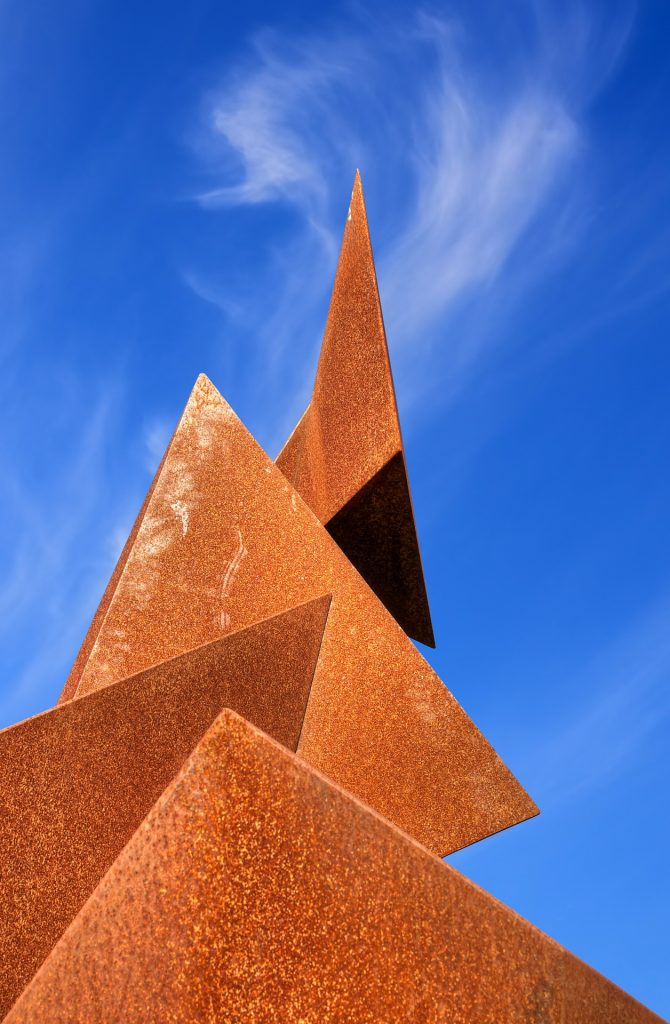 Irrational numbers and pyramids