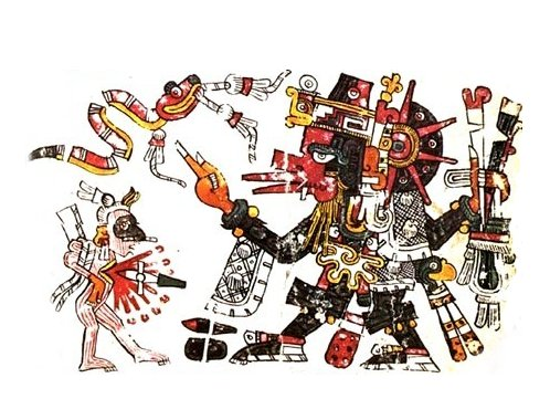 Quetzalcoatl, from the Borgia Codex.